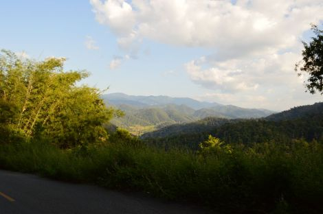 山岳地帯へ going into northern mountain area